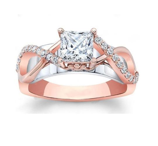 Jewelry 3D CAD Model Of Engagement Ring 3D Print 156581