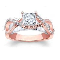 Small Jewelry 3D CAD Model Of Engagement Ring 3D Printing 156581