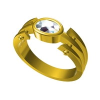 Small 3D CAD Model For Wedding Ring In STL Format 3D Printing 156590