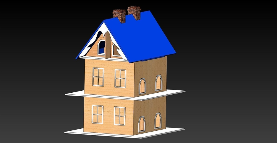 Bird House with 12 Apartments 3D Print 156651