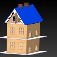 Small Bird House with 12 Apartments 3D Printing 156651