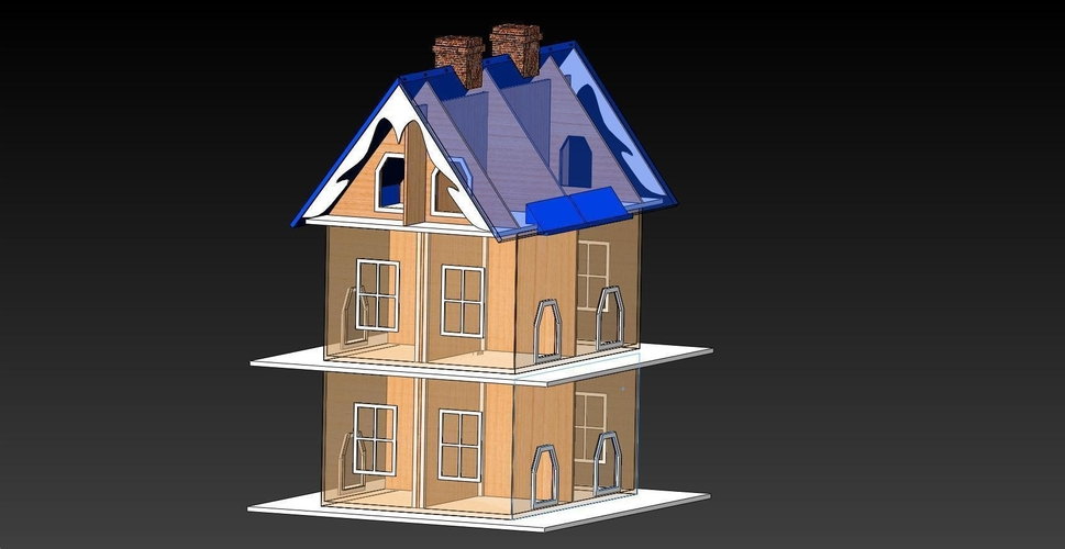 Bird House with 12 Apartments 3D Print 156652