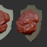 Small Rancor head 3D Printing 156663