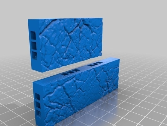OpenLOCK Tile Samples Dirt Shanty Stone Log Walls and Floors 3D Print 156671