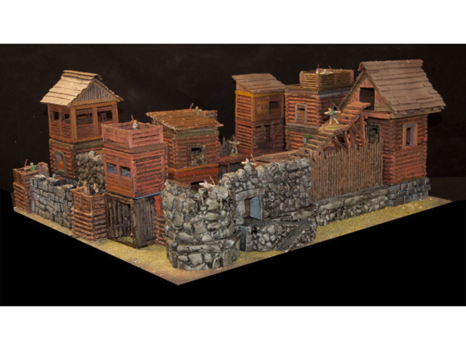 OpenLOCK Tile Samples Dirt Shanty Stone Log Walls and Floors 3D Print 156679