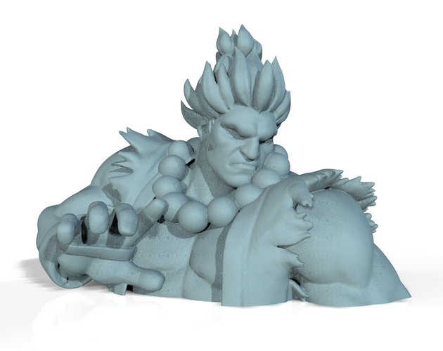 Street Fighter - AKUMA - Full Body and BUST (FIGHT STANCE) 3D Print 156700
