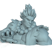 Small Street Fighter - AKUMA - Full Body and BUST (FIGHT STANCE) 3D Printing 156700