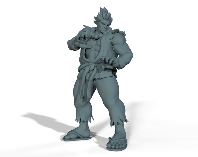 Street Fighter - AKUMA - Full Body and BUST (FIGHT STANCE) 3D Print 156701