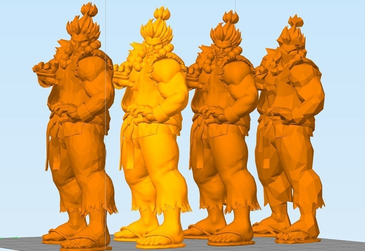 Street Fighter - AKUMA - Full Body and BUST (FIGHT STANCE) 3D Print 156704