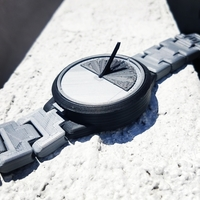 Small Mechanical Sun Dial Watch 3D Printing 156744