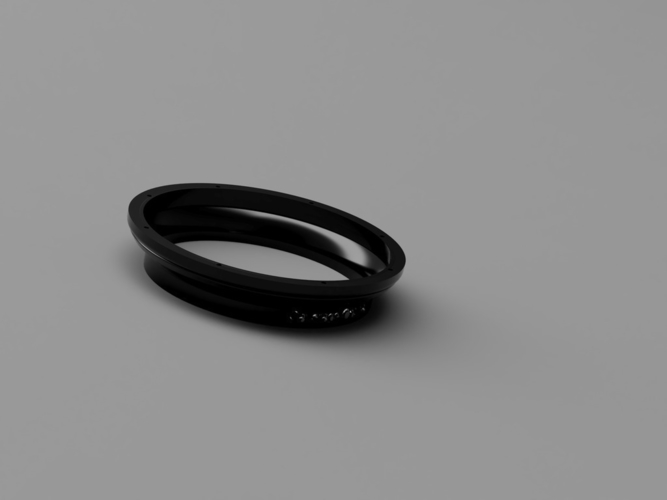 Nikon P900 Solar Filter Lens Frame ( Just add Solar Film) 3D Print 156750