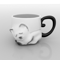 Small Cat cup 3D Printing 156768