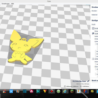 Small Pichu Key Chain 3D Printing 156802