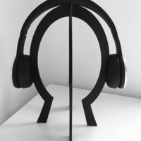 Small headphone head shape stand 3D Printing 156862