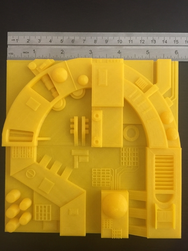 Death Star Surface Tiles 3D Print 156910