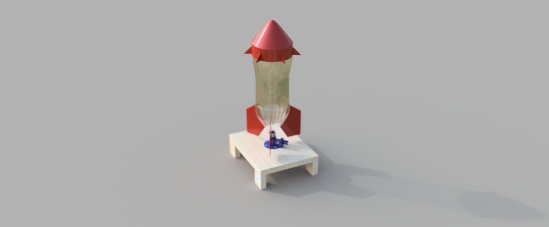 Water Bottle Rocket 3D Print 156928