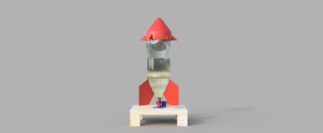 Water Bottle Rocket 3D Print 156929