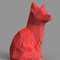 Small Voxel Fox 3D Printing 156984