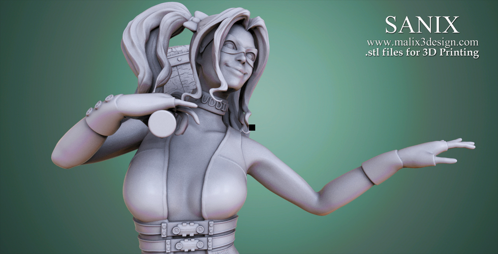 Harley Quinn - 3D Model for 3D Printing 3D Print 157008