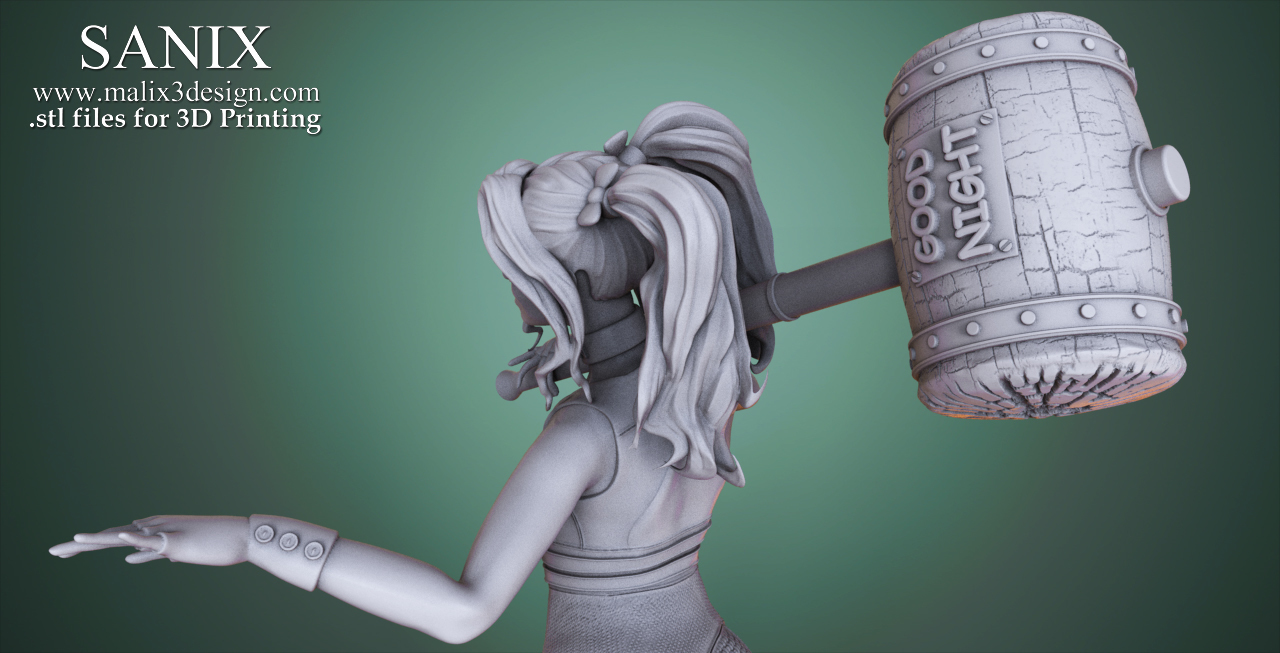 3D Printed Harley Quinn - 3D Model for 3D Printing by Sanix3 | Pinshape