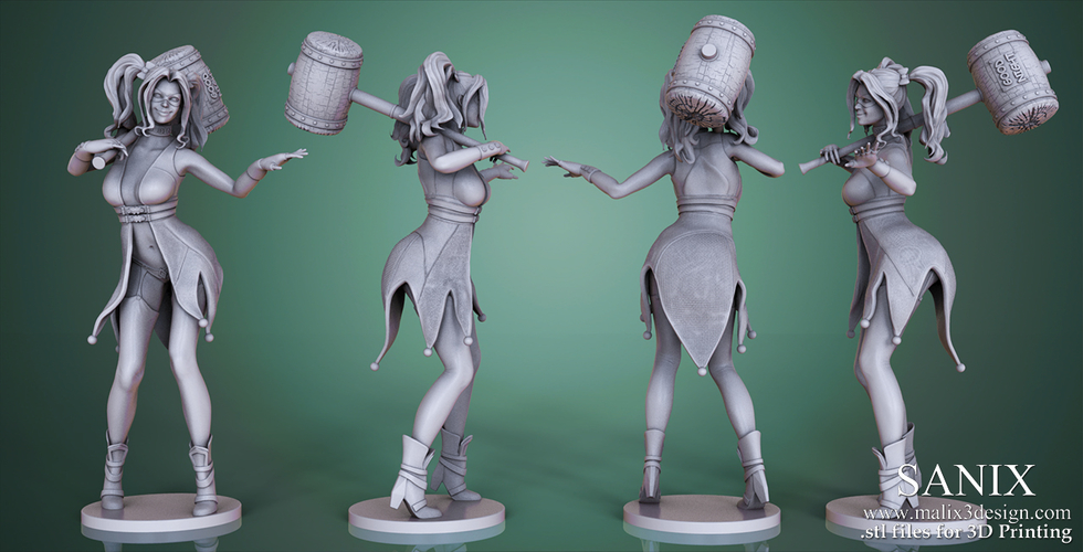 Harley Quinn - 3D Model for 3D Printing 3D Print 157013