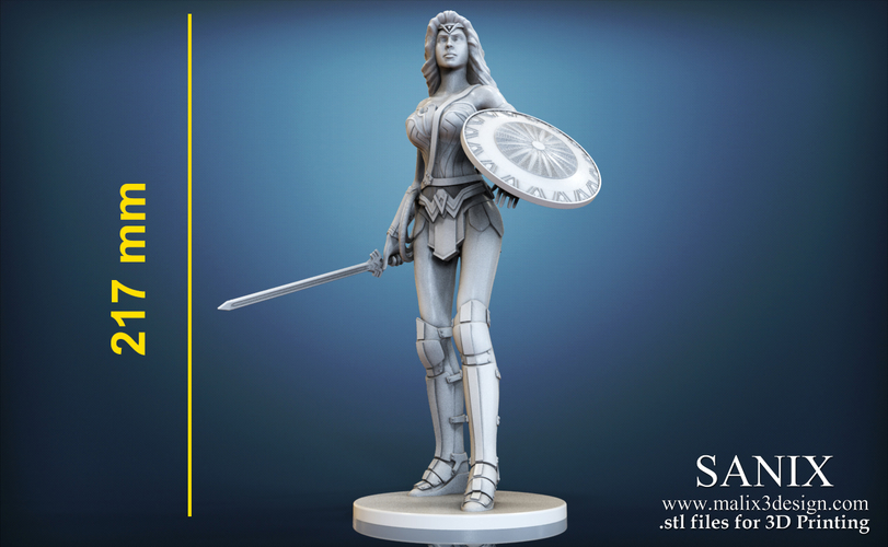 Wonder Woman - STL files for 3D Printing 3D Print 157015