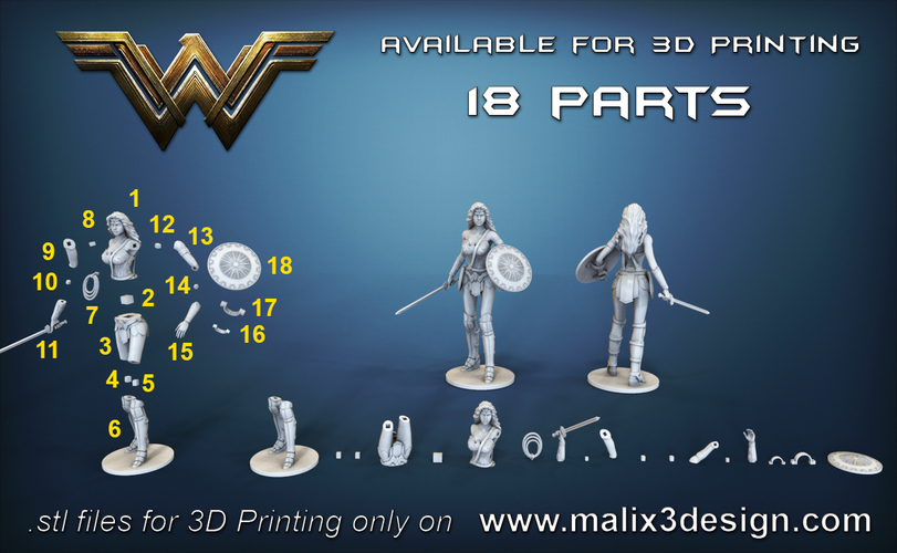 Wonder Woman - STL files for 3D Printing 3D Print 157022