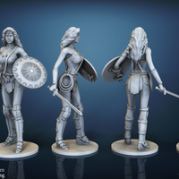 Small Wonder Woman - STL files for 3D Printing 3D Printing 157023