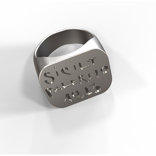 Replica of a us wwii Sicily campaign souvenir ring 3D Print 157043