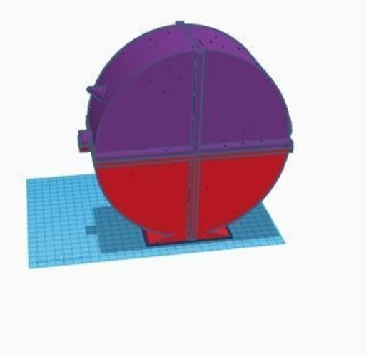 Round enclosed spool holder 3D Print 157124