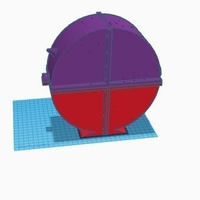 Small Round enclosed spool holder 3D Printing 157124