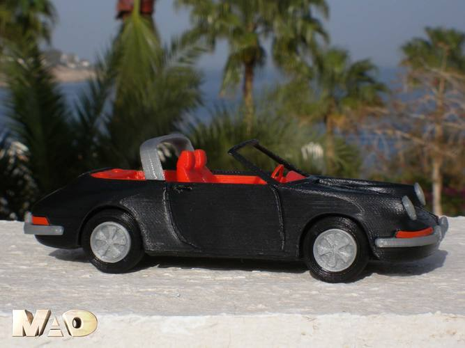 German Sports Car Model 3D Print 15714