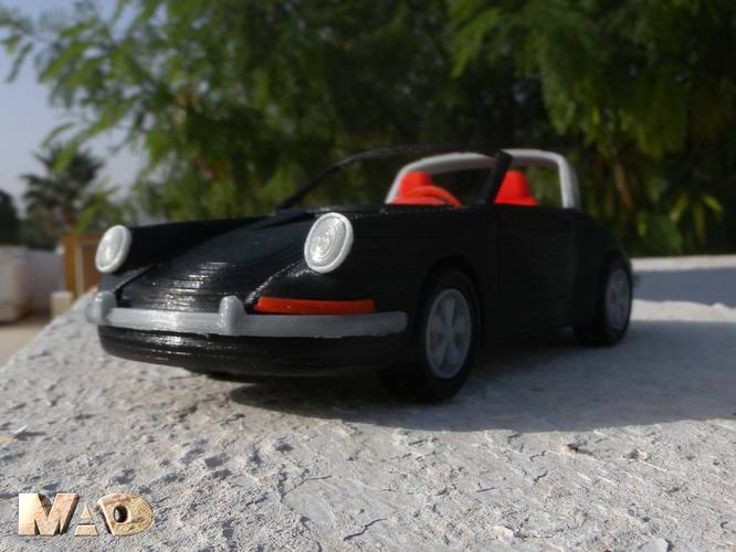German Sports Car Model 3D Print 15717