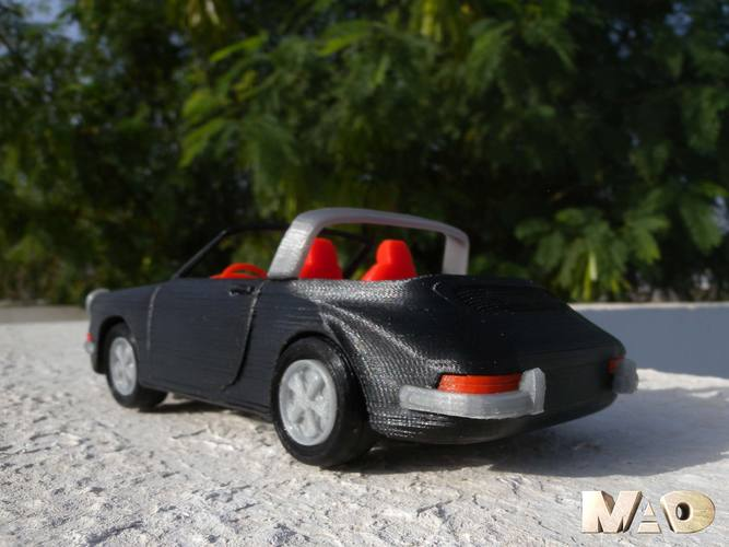 German Sports Car Model 3D Print 15718