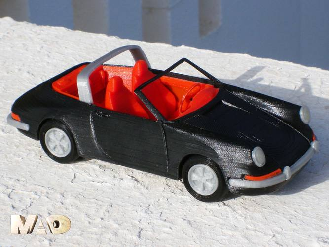 German Sports Car Model 3D Print 15719