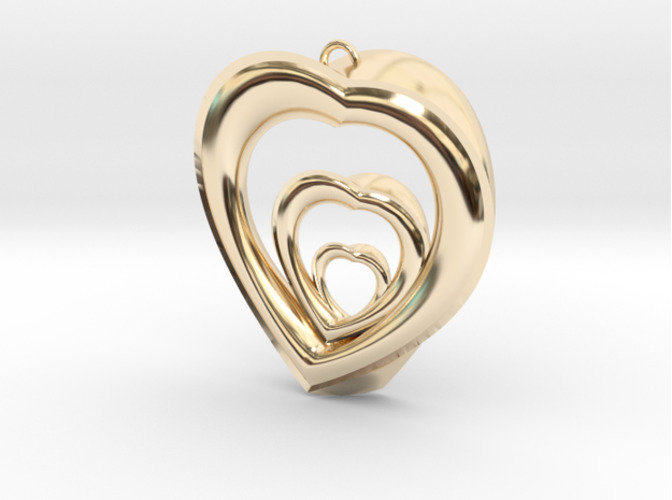 Infinite Love Pendant 3D Print 15727
