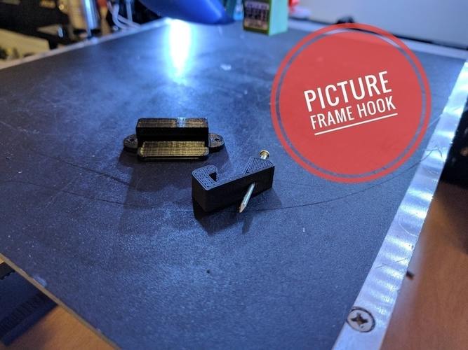 Picture Frame Hook 3D Print 157279