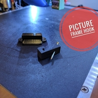 Small Picture Frame Hook 3D Printing 157279