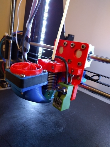 Hictop E3DV6 X_Carriage mk2 3D Print 157287