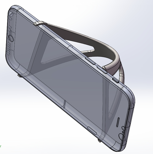 iPhone 6 Trident Curvascular Prop Stand 3D Print 157308