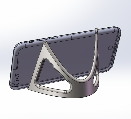 iPhone 6 Trident Curvascular Prop Stand 3D Print 157309