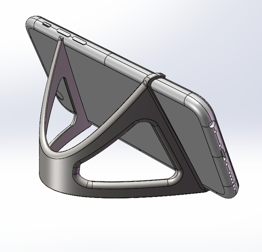 iPhone 6 Trident Curvascular Prop Stand 3D Print 157310