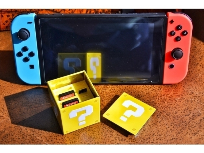 Nintendo Switch Cartridges and Micro SD holder 3D Print 157319