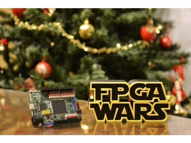 FPGA WARS Alternative logo STAR WARS 3D Print 157346