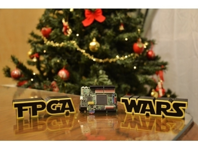 FPGA WARS Alternative logo STAR WARS 3D Print 157347