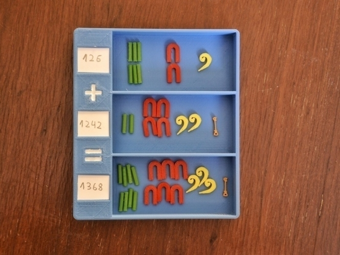 Egyptian numbers math 3D Print 157350