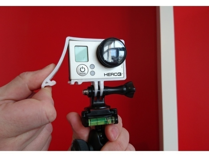 Quick Release GoPro Hero Frame 3D Print 157360