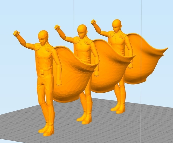 Saitama! ONE PUNCH MAN ! Full body 3 resolutions 3D Print 157368