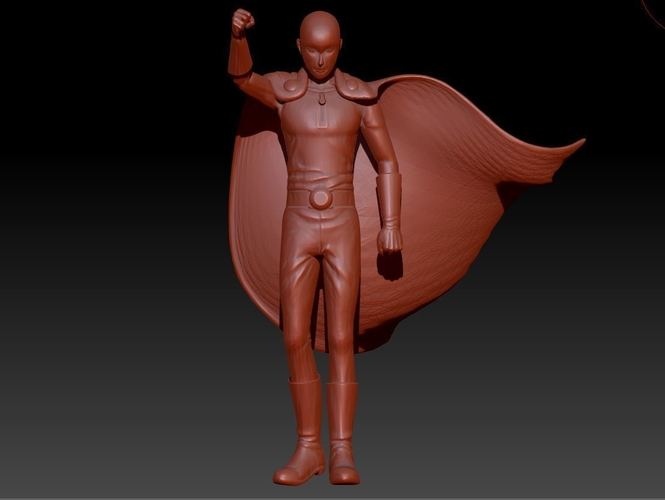 Saitama! ONE PUNCH MAN ! Full body 3 resolutions 3D Print 157371