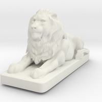 Small Lion Sculpture 3D Printing 15738